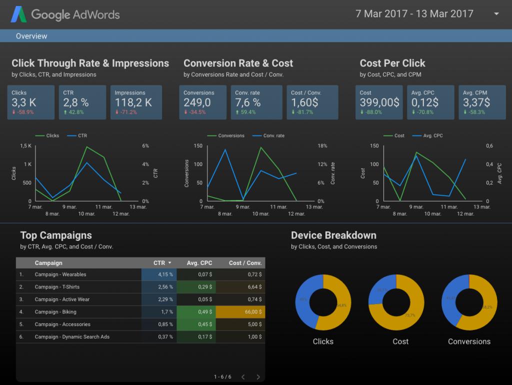 "Google AdWords Overview Report"""