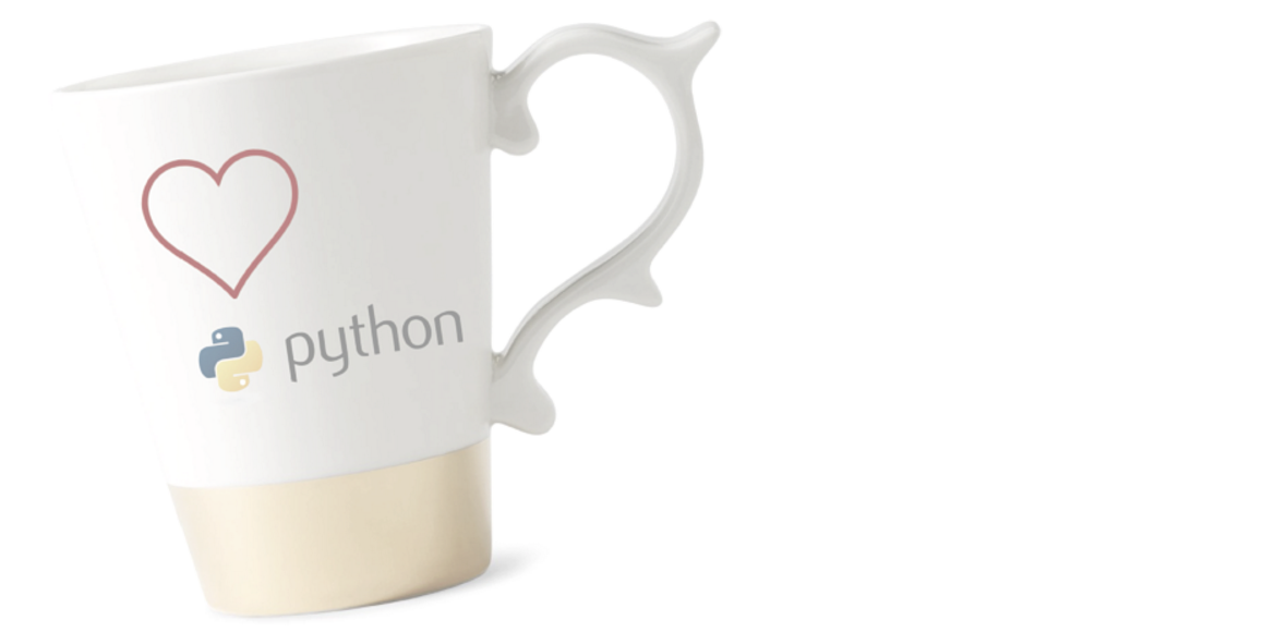 """Cup showing a Love Python symbol on it"""